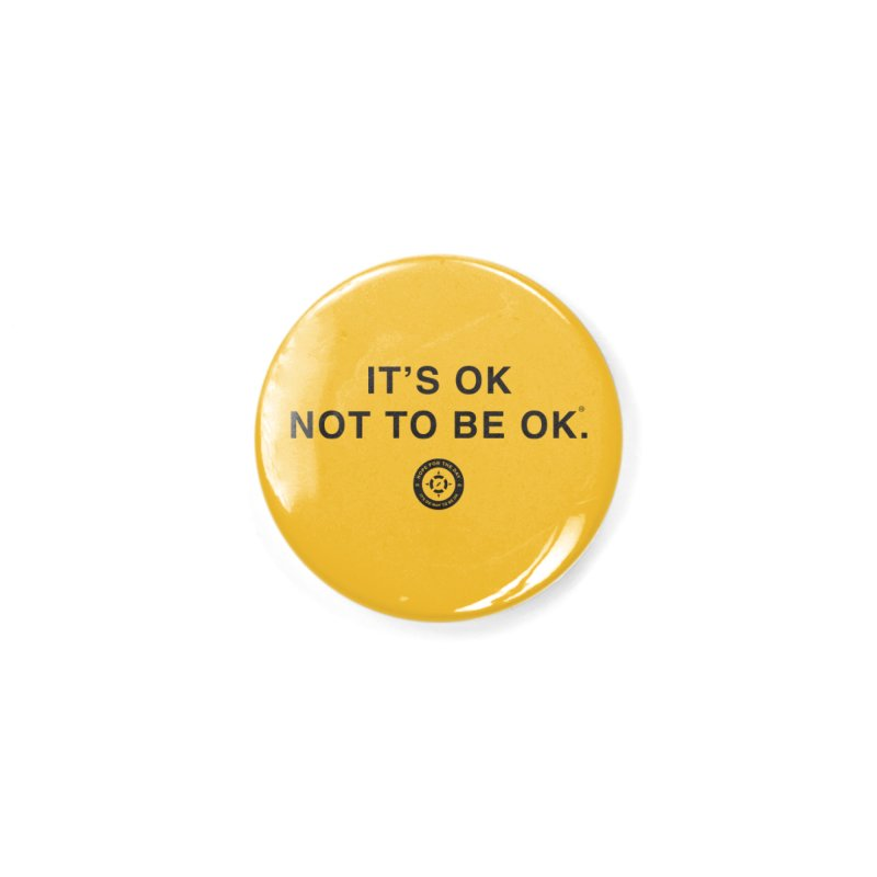 IT'S OK Black Lettering Accessories Button by Hope for the Day Shop
