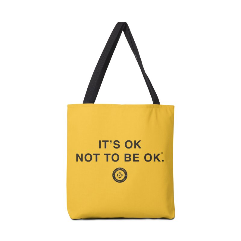 IT'S OK Black Lettering Accessories Tote Bag Bag by Hope for the Day Shop