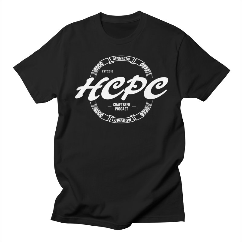 Otium Actio Lowbrow White Men's Regular T-Shirt by Hoppy Craftsmen's Swag Portal