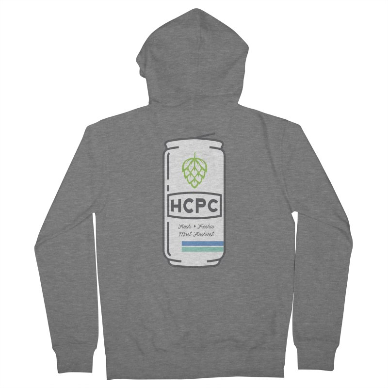 Freshie Can Men's French Terry Zip-Up Hoody by Hoppy Craftsmen's Swag Portal