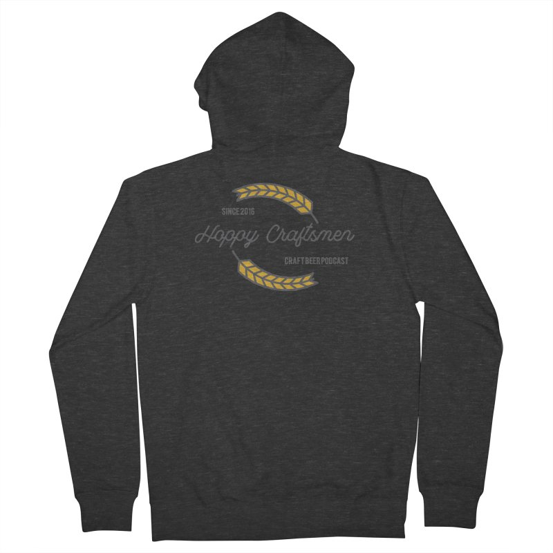 HCPC Logo Old West Men's French Terry Zip-Up Hoody by Hoppy Craftsmen's Swag Portal