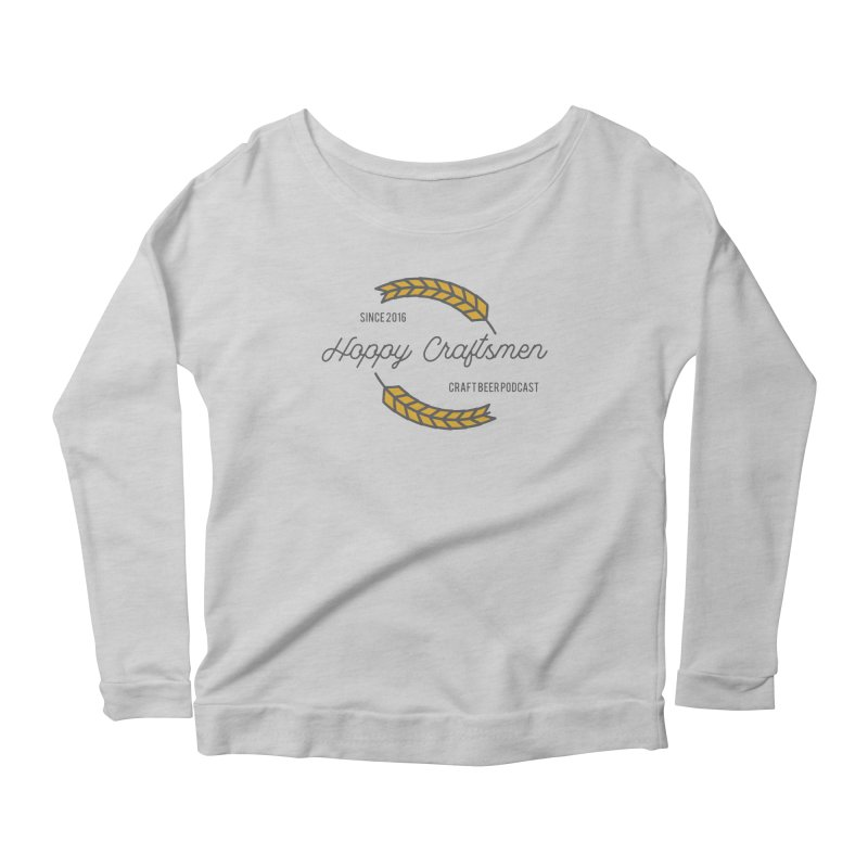 HCPC Logo Old West Women's Longsleeve Scoopneck  by Hoppy Craftsmen's Swag Portal