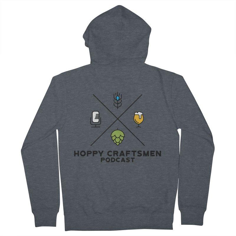 HCPC Logo Men's French Terry Zip-Up Hoody by Hoppy Craftsmen's Swag Portal