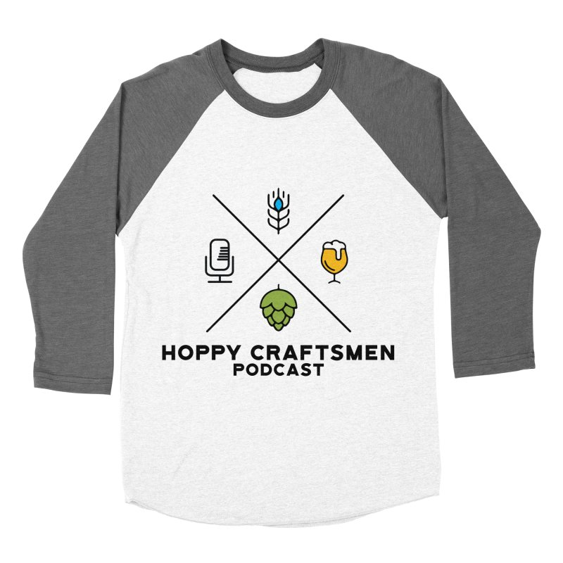 HCPC Logo Men's Baseball Triblend Longsleeve T-Shirt by Hoppy Craftsmen's Swag Portal