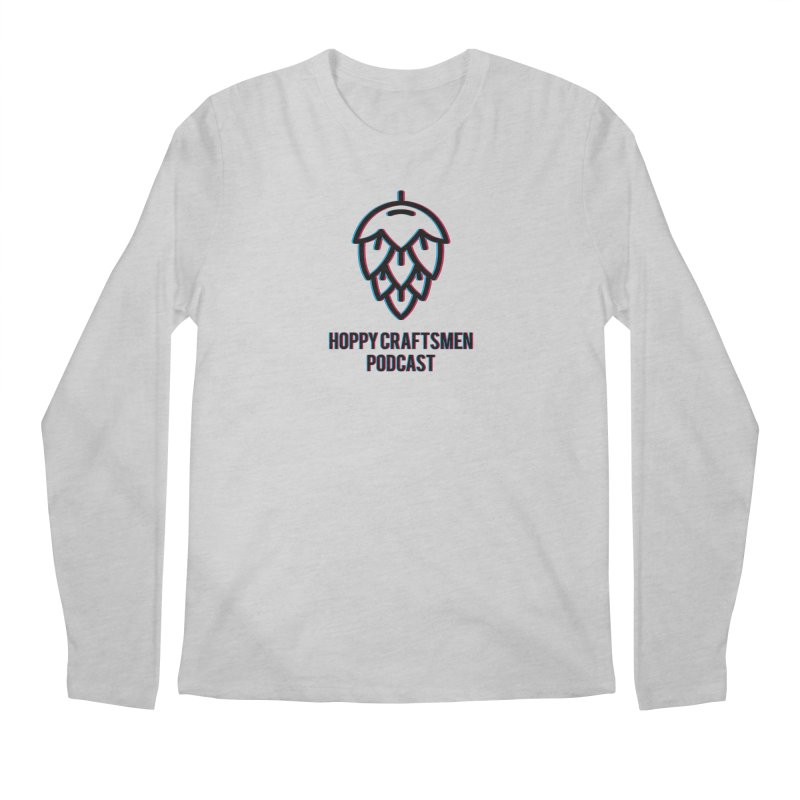 Anaglyphic Hops Men's Regular Longsleeve T-Shirt by Hoppy Craftsmen's Swag Portal
