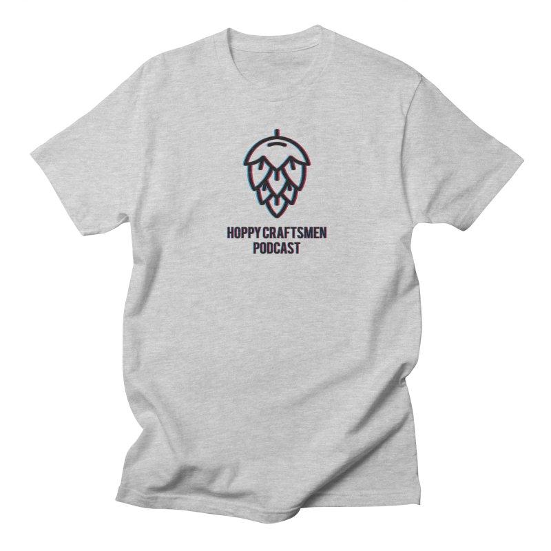 Anaglyphic Hops Men's Regular T-Shirt by Hoppy Craftsmen's Swag Portal