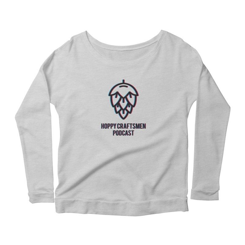 Anaglyphic Hops Women's Scoop Neck Longsleeve T-Shirt by Hoppy Craftsmen's Swag Portal
