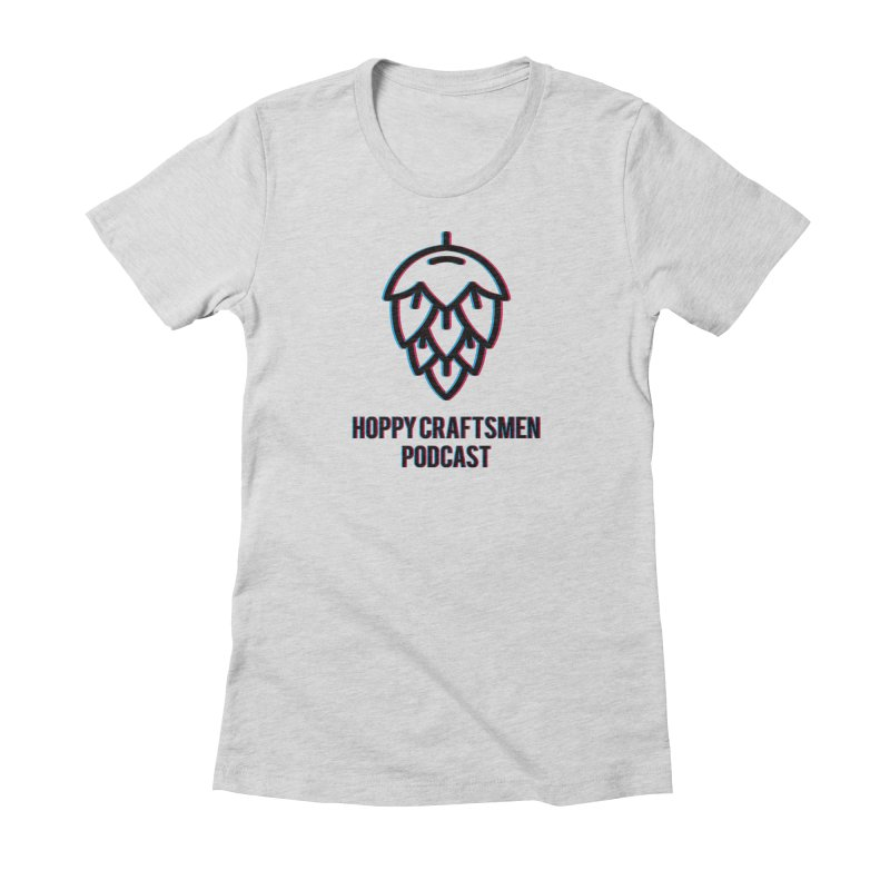 Anaglyphic Hops Women's Fitted T-Shirt by Hoppy Craftsmen's Swag Portal