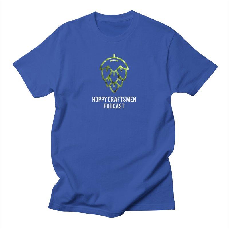Hops on Hops White Version Men's T-Shirt by Hoppy Craftsmen's Swag Portal