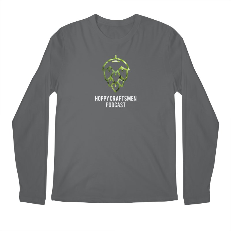 Hops on Hops White Version Men's Longsleeve T-Shirt by Hoppy Craftsmen's Swag Portal