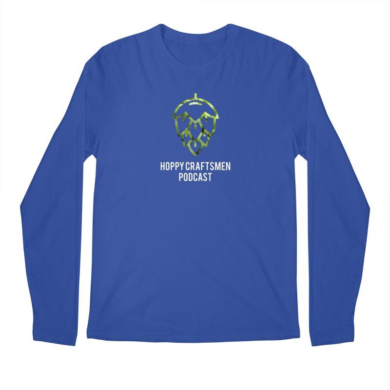 Hops on Hops White Version Men's Regular Longsleeve T-Shirt by Hoppy Craftsmen's Swag Portal