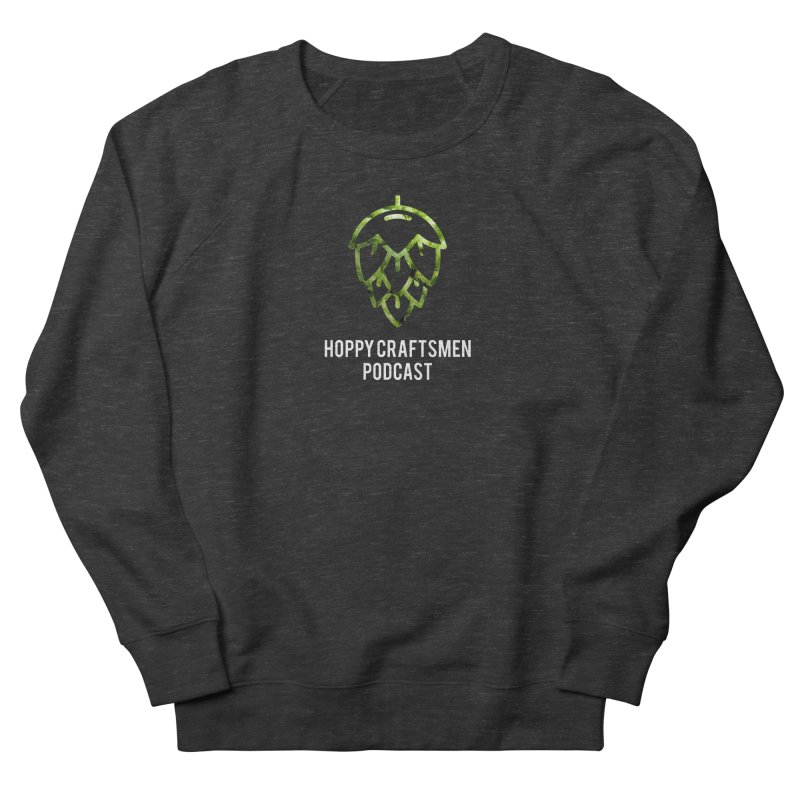 Hops on Hops White Version Men's French Terry Sweatshirt by Hoppy Craftsmen's Swag Portal