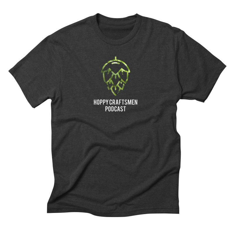 Hops on Hops White Version Men's Triblend T-Shirt by Hoppy Craftsmen's Swag Portal