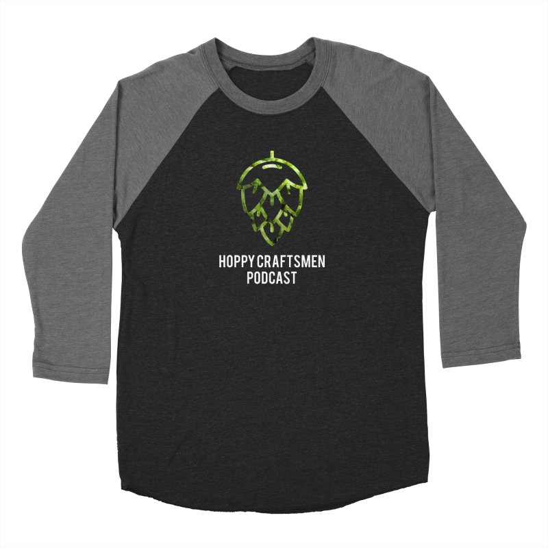 Hops on Hops White Version Women's Baseball Triblend Longsleeve T-Shirt by Hoppy Craftsmen's Swag Portal