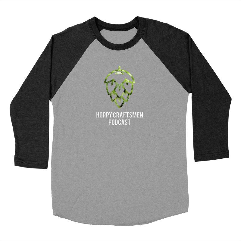 Hops on Hops White Version Men's Baseball Triblend Longsleeve T-Shirt by Hoppy Craftsmen's Swag Portal