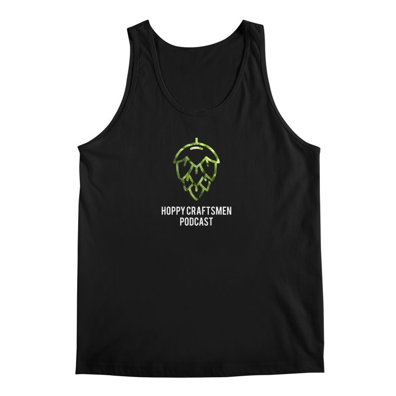 Hops on Hops White Version Men's Tank by Hoppy Craftsmen's Swag Portal