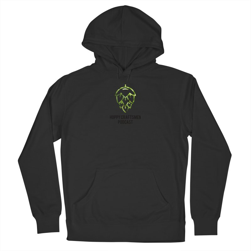 Hops on Hops Black Version Women's French Terry Pullover Hoody by Hoppy Craftsmen's Swag Portal