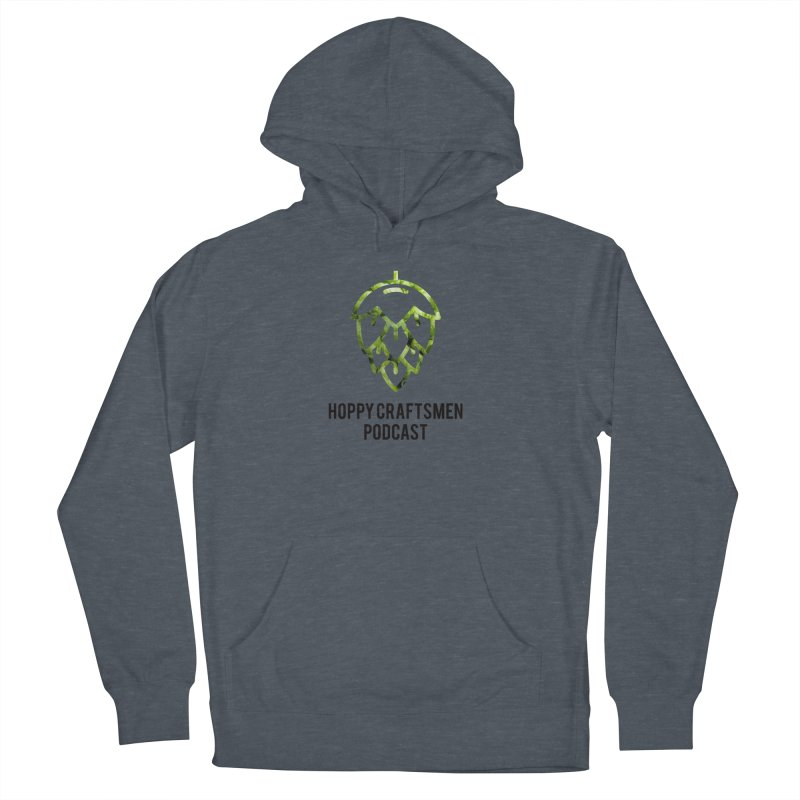 Hops on Hops Black Version Men's French Terry Pullover Hoody by Hoppy Craftsmen's Swag Portal