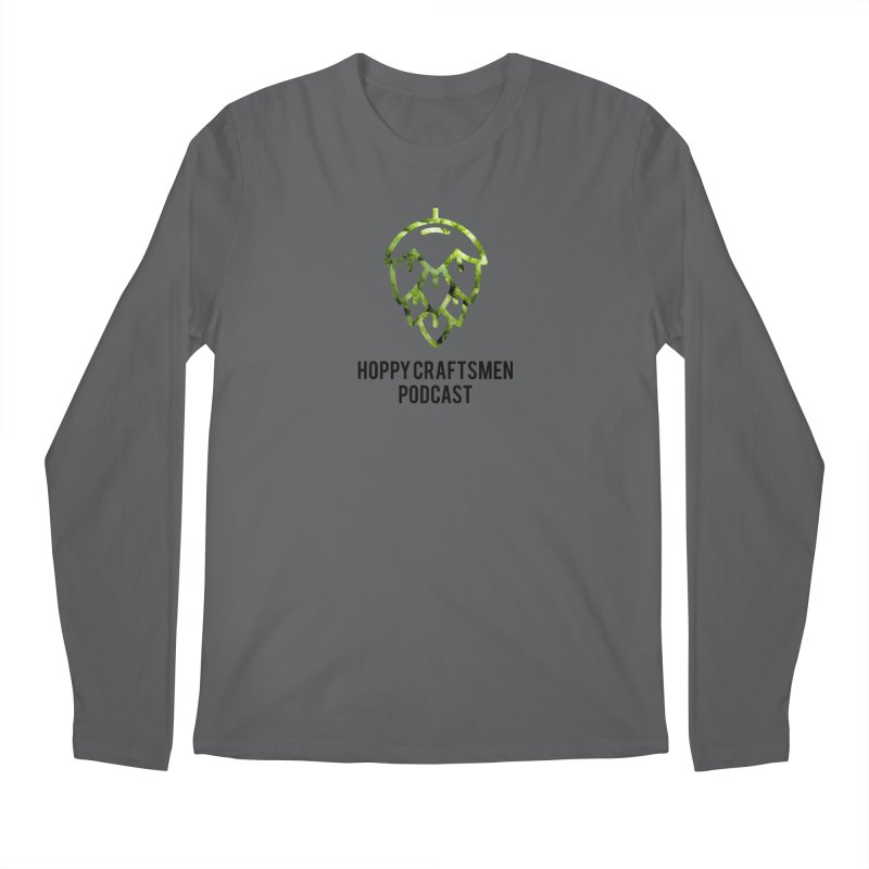 Hops on Hops Black Version Men's Longsleeve T-Shirt by Hoppy Craftsmen's Swag Portal