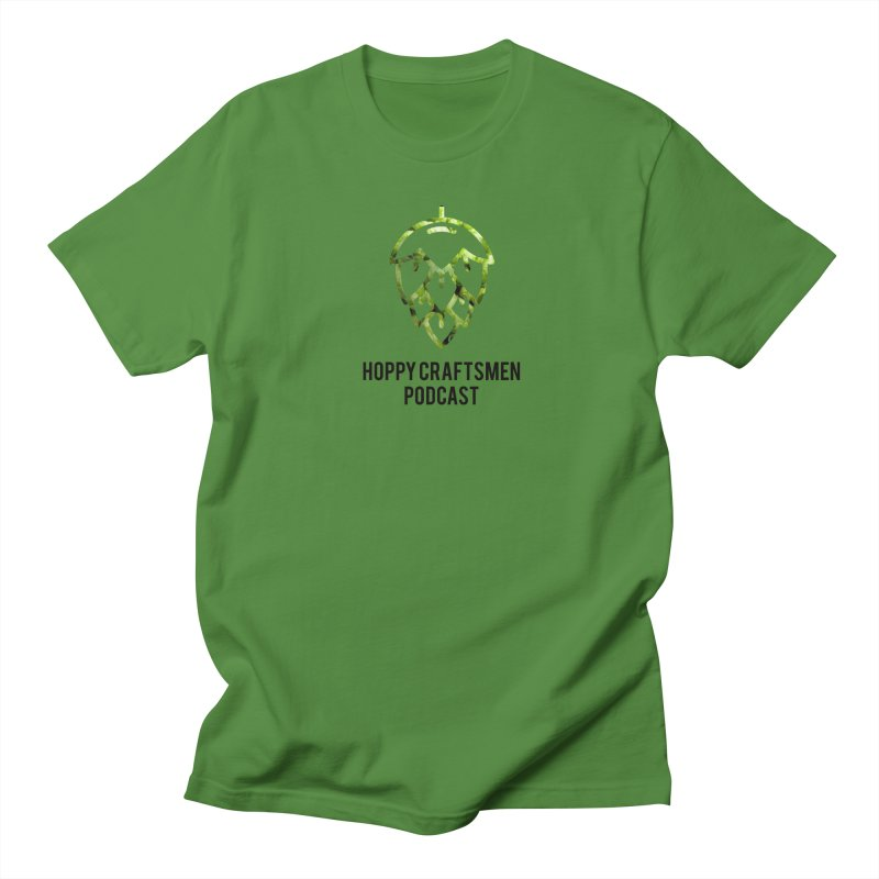 Hops on Hops Black Version Men's T-Shirt by Hoppy Craftsmen's Swag Portal