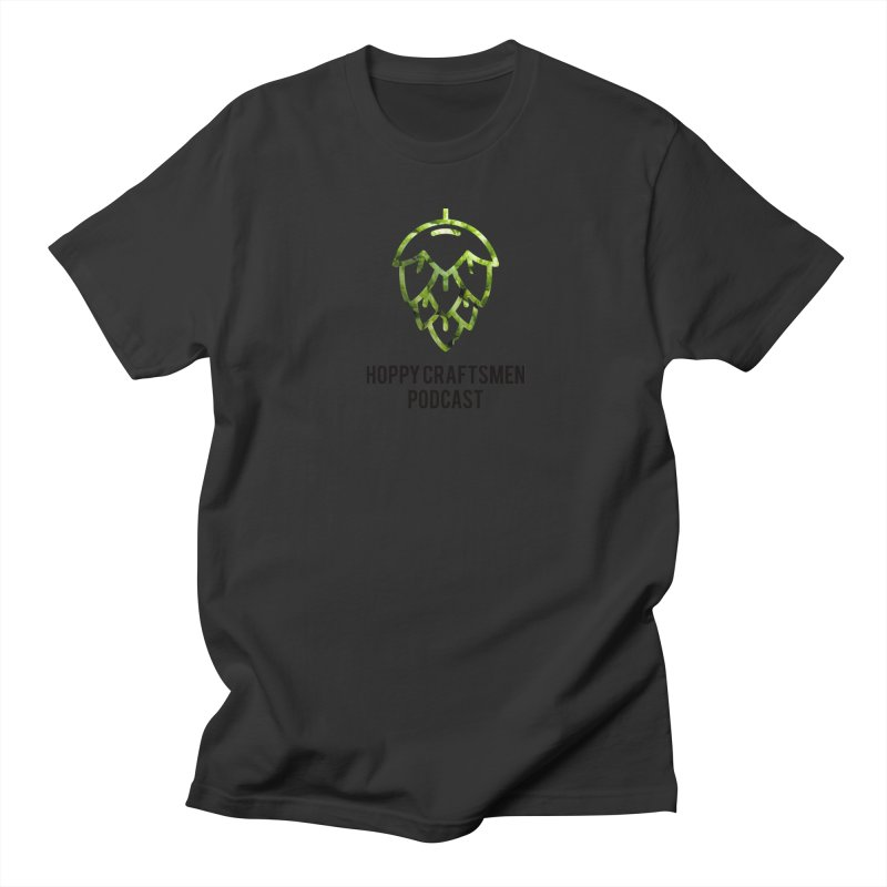 Hops on Hops Black Version Men's T-Shirt by Hoppy Craftsmen's Swag Portal