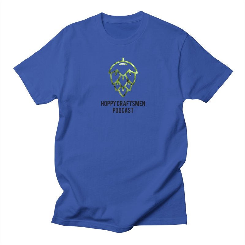 Hops on Hops Black Version Men's Regular T-Shirt by Hoppy Craftsmen's Swag Portal