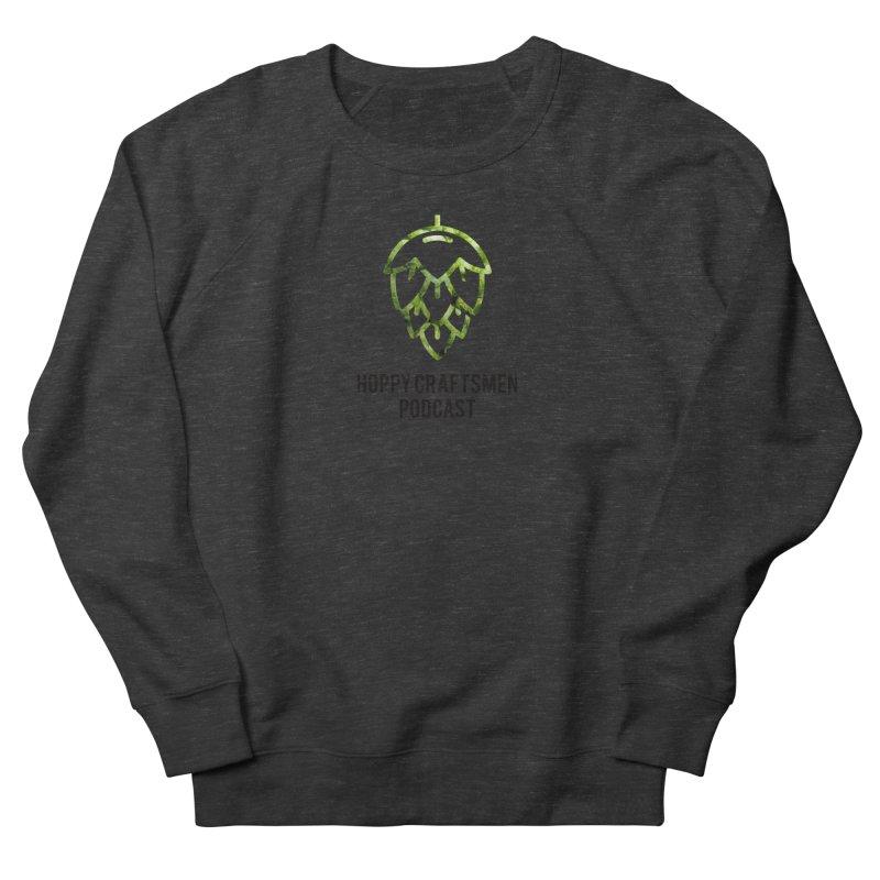 Hops on Hops Black Version Women's French Terry Sweatshirt by Hoppy Craftsmen's Swag Portal