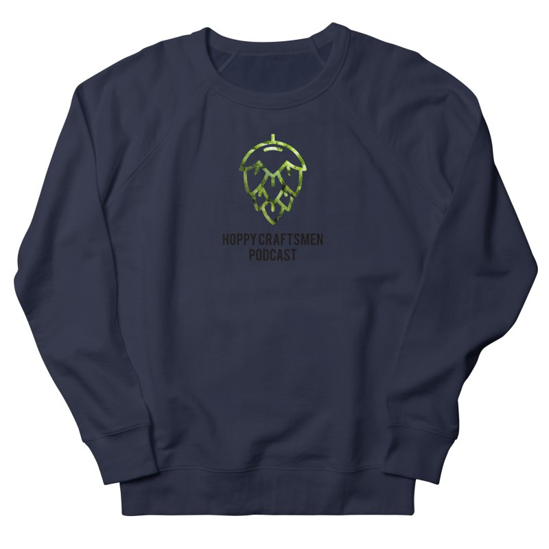 Hops on Hops Black Version Women's French Terry Sweatshirt by Hoppy Craftsmen's Swag Portal