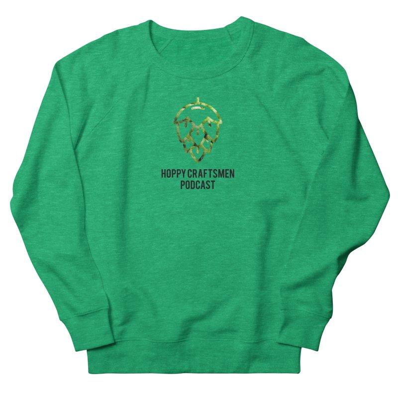 Hops on Hops Black Version Men's French Terry Sweatshirt by Hoppy Craftsmen's Swag Portal