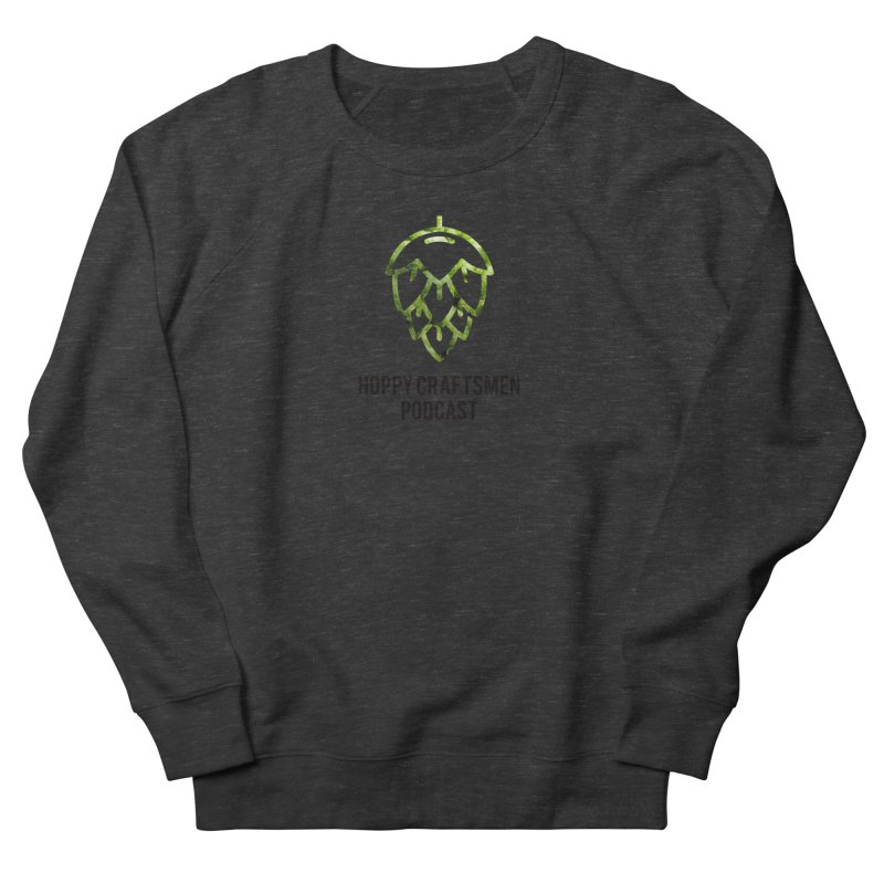 Hops on Hops Black Version Men's French Terry Sweatshirt by Hoppy Craftsmen's Swag Portal