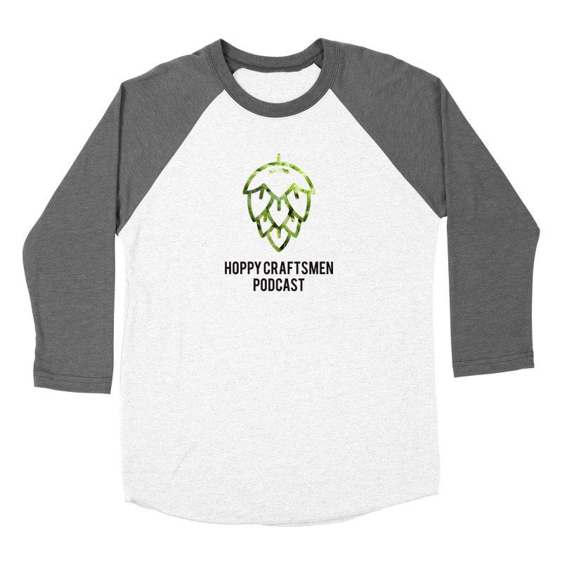 Hops on Hops Black Version Women's Baseball Triblend Longsleeve T-Shirt by Hoppy Craftsmen's Swag Portal