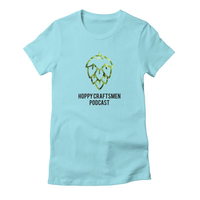 Hops on Hops Black Version Women's Fitted T-Shirt by Hoppy Craftsmen's Swag Portal