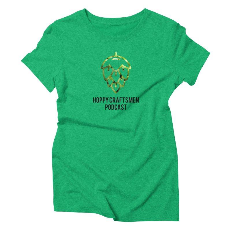 Hops on Hops Black Version Women's Triblend T-Shirt by Hoppy Craftsmen's Swag Portal
