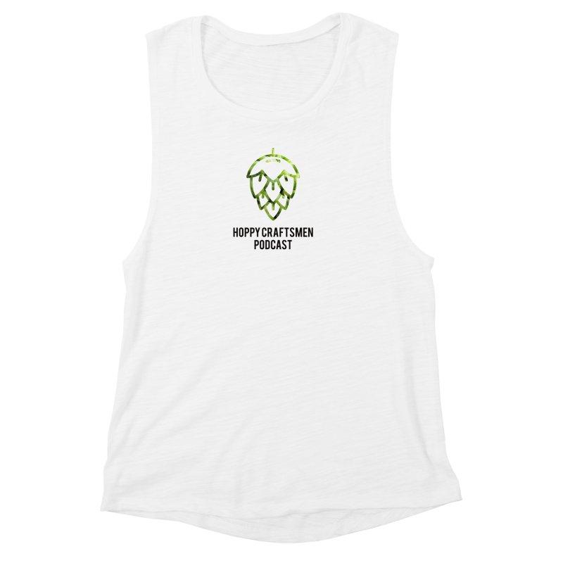 Hops on Hops Black Version Women's Muscle Tank by Hoppy Craftsmen's Swag Portal