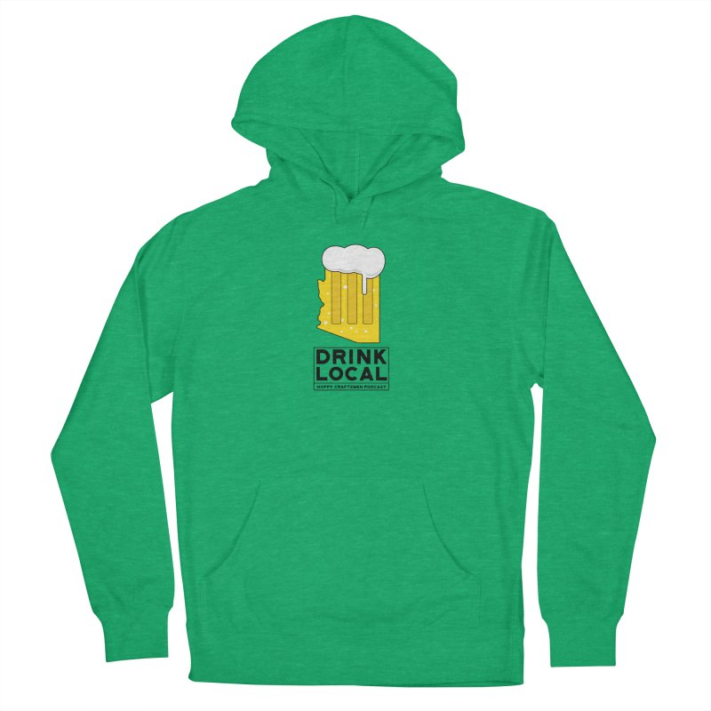 Drink Local IPA Men's French Terry Pullover Hoody by Hoppy Craftsmen's Swag Portal