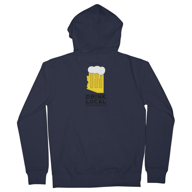 Drink Local IPA Women's French Terry Zip-Up Hoody by Hoppy Craftsmen's Swag Portal