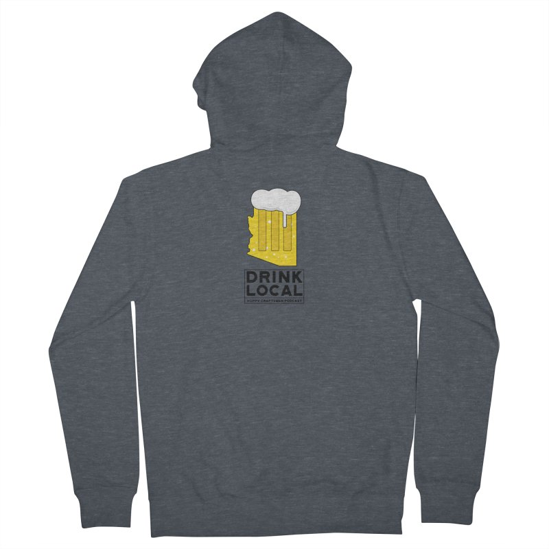 Drink Local IPA Men's French Terry Zip-Up Hoody by Hoppy Craftsmen's Swag Portal