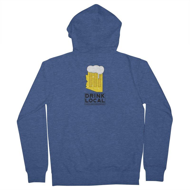 Drink Local IPA Men's Zip-Up Hoody by Hoppy Craftsmen's Swag Portal