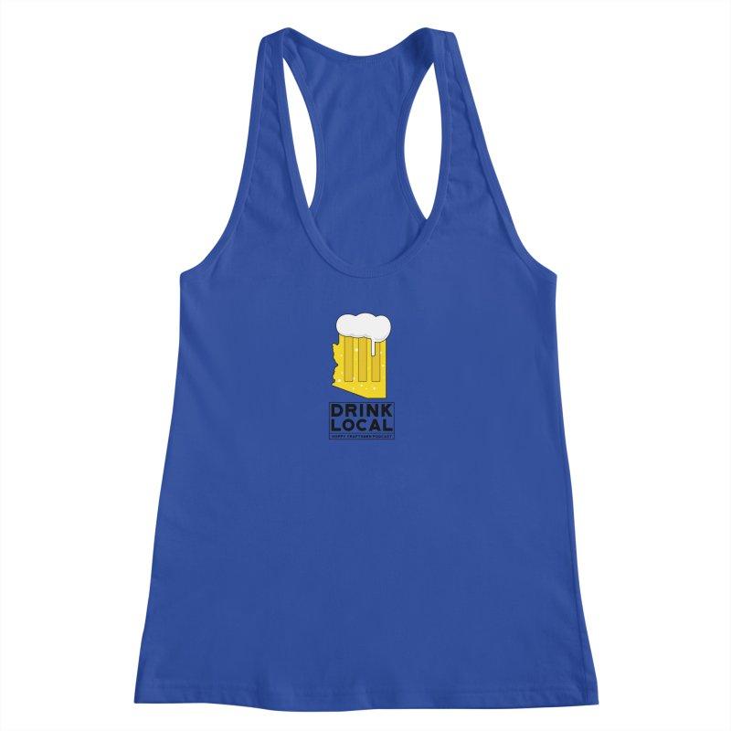 Drink Local IPA Women's Racerback Tank by Hoppy Craftsmen's Swag Portal