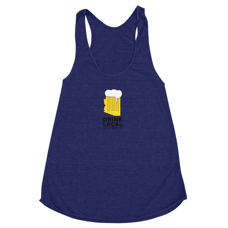 Drink Local IPA Women's Racerback Triblend Tank by Hoppy Craftsmen's Swag Portal