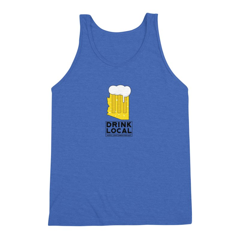Drink Local IPA Men's Triblend Tank by Hoppy Craftsmen's Swag Portal