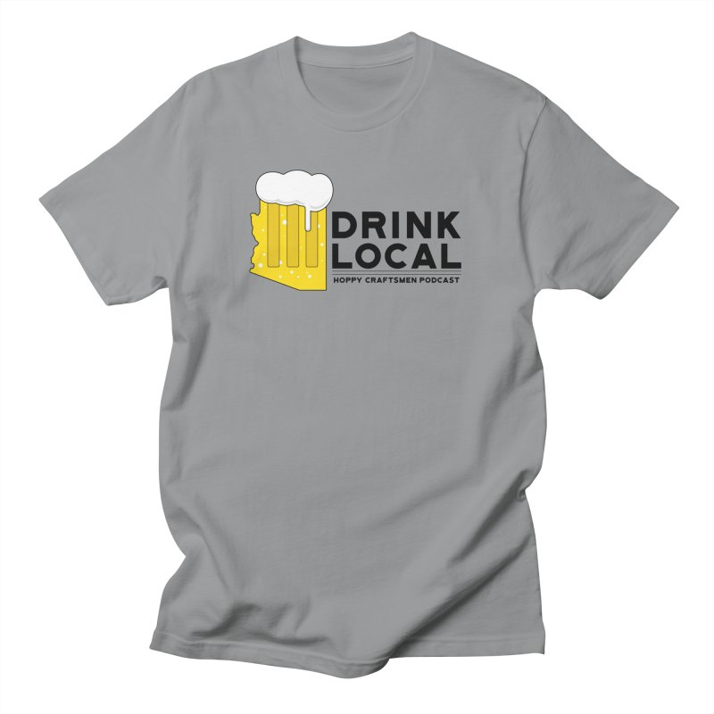 Drink Local IPA Span Men's Regular T-Shirt by Hoppy Craftsmen's Swag Portal