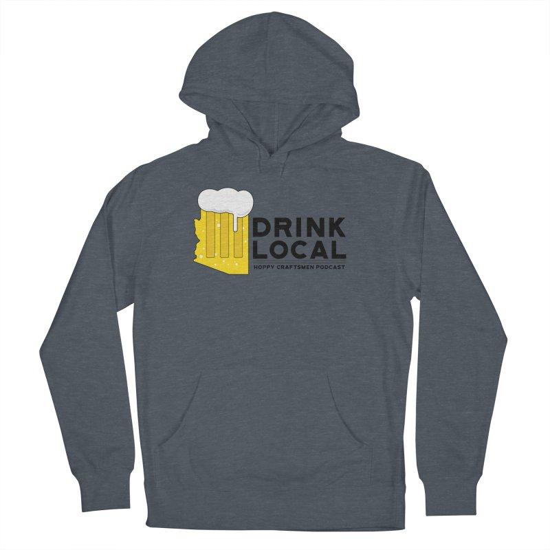 Drink Local IPA Span Men's Pullover Hoody by Hoppy Craftsmen's Swag Portal