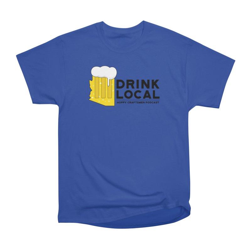 Drink Local IPA Span Men's Heavyweight T-Shirt by Hoppy Craftsmen's Swag Portal