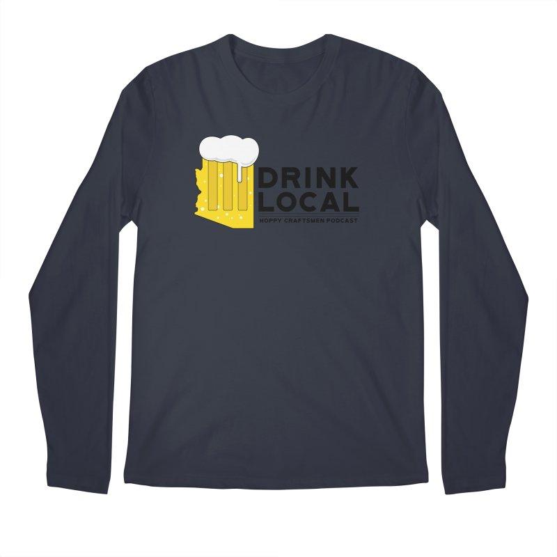 Drink Local IPA Span Men's Regular Longsleeve T-Shirt by Hoppy Craftsmen's Swag Portal