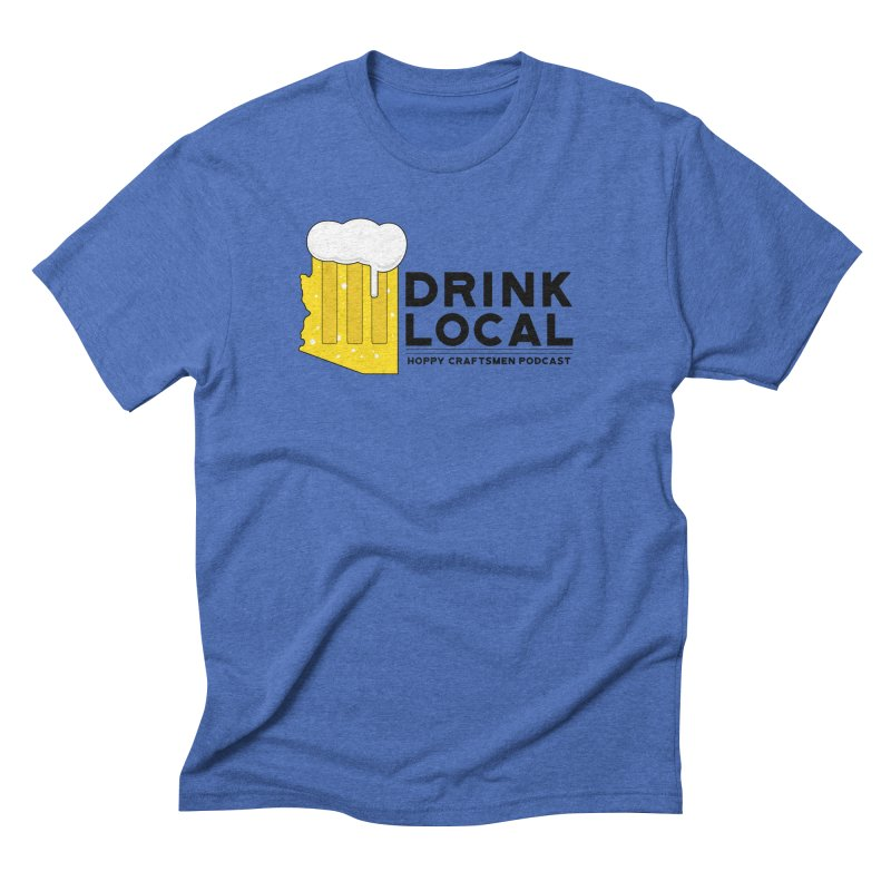 Drink Local IPA Span Men's T-Shirt by Hoppy Craftsmen's Swag Portal