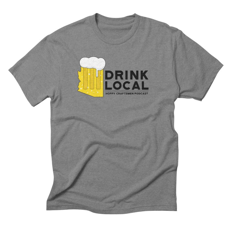 Drink Local IPA Span Men's Triblend T-Shirt by Hoppy Craftsmen's Swag Portal