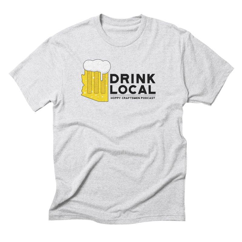Drink Local IPA Span Men's Triblend T-Shirt by Hoppy Craftsmen's Swag Portal