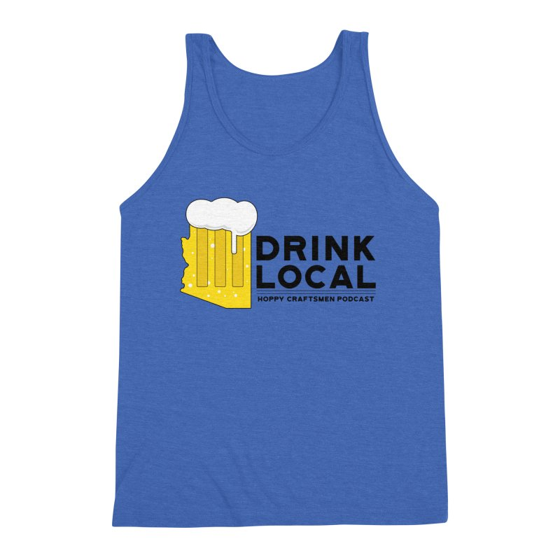 Drink Local IPA Span Men's Triblend Tank by Hoppy Craftsmen's Swag Portal