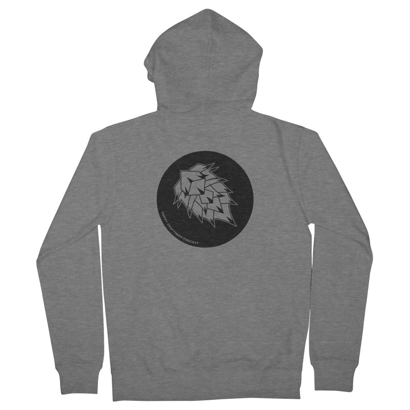 Hops Circles Men's French Terry Zip-Up Hoody by Hoppy Craftsmen's Swag Portal